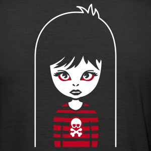 Schwarz bad gothic girl for black shirts T-Shirt - Männer Slim Fit T-Shirt