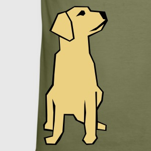 Oliven A dog philosophing about life T-skjorte - Slim Fit T-skjorte for menn
