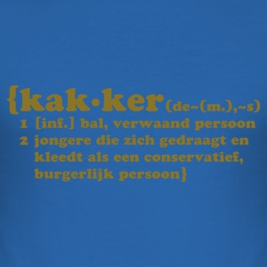 Sky blue Kakker Heren t-shirts - slim fit T-shirt