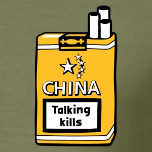CHINA - OHNE FILTER. TALKING KILLS - Männer Slim Fit T-Shirt