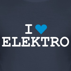 Dark navy love_elektro T-Shirt - Men's Slim Fit T-Shirt