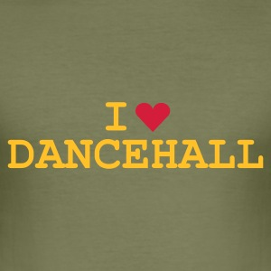 Olive love_dancehall T-Shirt - Slim Fit T-shirt herr