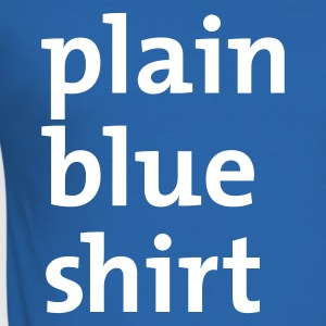 plain blue shirt T-Shirt Royalblau - Männer Slim Fit T-Shirt