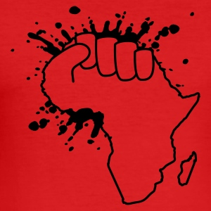 Dark orange the power of africa T-Shirt - Männer Slim Fit T-Shirt