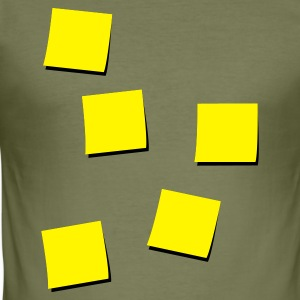 Bruin Post-Its Heren t-shirts - slim fit T-shirt