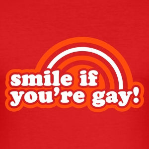 Rot smile if you're gay T-Shirt - Männer Slim Fit T-Shirt