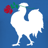 Motif ~ Tee shirt Rugby - Le Coq Versus la Rose