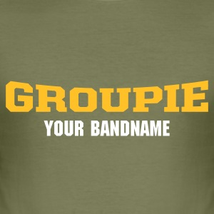 Braun groupie T-Shirt - Männer Slim Fit T-Shirt