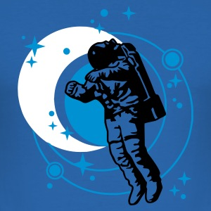 Sky blue astronaut T-Shirt - Männer Slim Fit T-Shirt