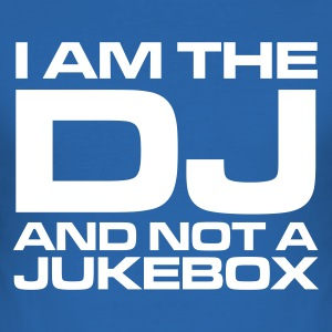 Koningsblauw I am the DJ and not a jukebox Heren t-shirts - slim fit T-shirt