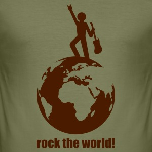 Camel rock the world! T-Shirts (Kurzarm) - Männer Slim Fit T-Shirt