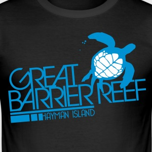 Black Great Barrier Reef T-Shirts - Men's Slim Fit T-Shirt