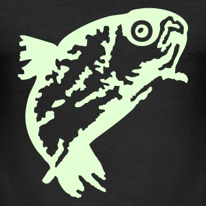 Schwarz Forelle  (Trout) T-Shirt - Men's Slim Fit T-Shirt