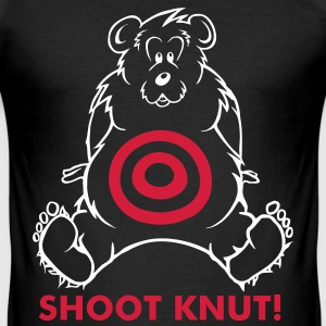 Shoot Knut! - Männer Slim Fit T-Shirt