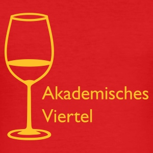 Wine Akademisches Viertel T-Shirt - Männer Slim Fit T-Shirt