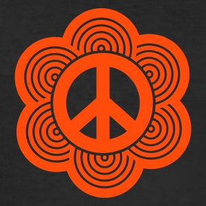 Gelb peace sign T-Shirts (Kurzarm) - Männer Slim Fit T-Shirt
