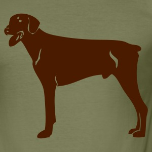 Olijfgroen dobermannblackv08 Heren t-shirts - slim fit T-shirt
