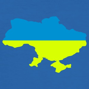 Bleu royal Ukraine flag map Hommes - Tee shirt près du corps Homme
