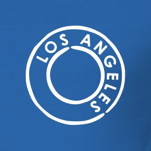 Koningsblauw Los Angeles T-shirts (korte mouw) - slim fit T-shirt