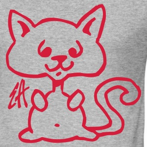 Katt - Slim Fit T-shirt herr
