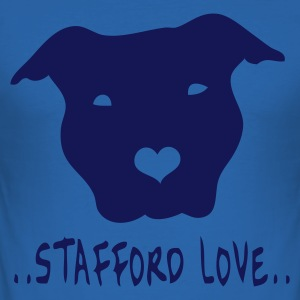 Stafford www.dog-power.nl - Männer Slim Fit T-Shirt