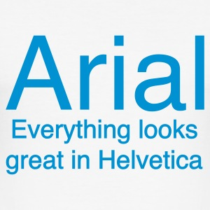Arial vs. Helvetica - Männer Slim Fit T-Shirt