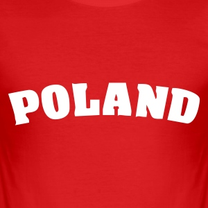 Red Poland T-Shirts - Men's Slim Fit T-Shirt