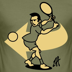 Tennis - Slim Fit T-shirt herr