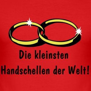 Rot Eheringe T-Shirt - Männer Slim Fit T-Shirt