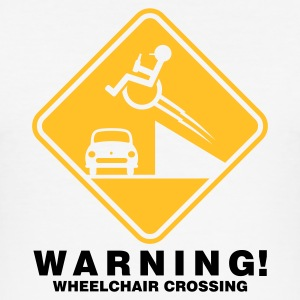 Weiß ::WHEELCHAIR CROSSING:: T-Shirts - Männer Slim Fit T-Shirt