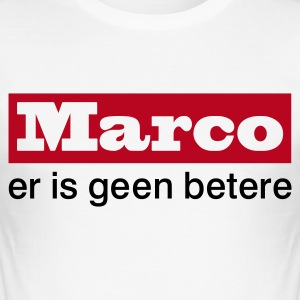 Wit Marco - er is geen betere Heren t-shirts - slim fit T-shirt
