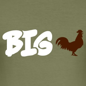 Olive Big Cock T-Shirt - Männer Slim Fit T-Shirt