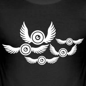 Schwarz sound bird T-Shirts - Männer Slim Fit T-Shirt