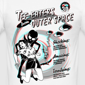 Tee-Eaters from Outer Space (3D) - Männer Slim Fit T-Shirt