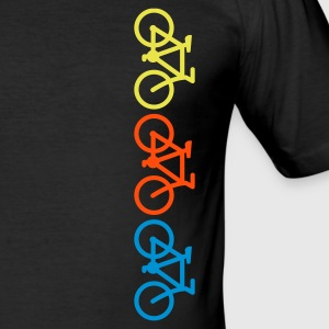 Schwarz three bikes T-Shirts - Männer Slim Fit T-Shirt
