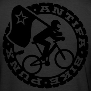 Eigelb Antifa Bike Punks T-Shirts - Männer Slim Fit T-Shirt