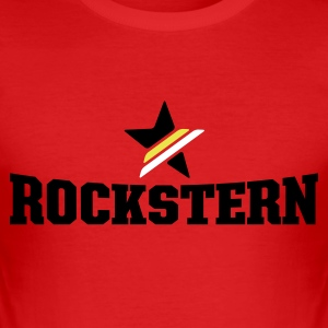 Dark orange rockstern T-Shirt - Männer Slim Fit T-Shirt