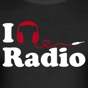 (Slim) I Listen to (Love) Radio - Männer Slim Fit T-Shirt