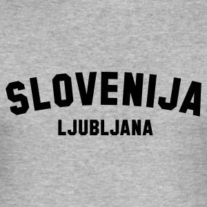 :: SLOVENIJA LJUBLJANA :: T-Shirts - Men's Slim Fit T-Shirt