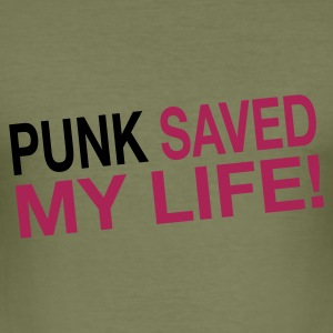 Camel punk_saved_my_life Men's Tees (short-sleeved) - Men's Slim Fit T-Shirt