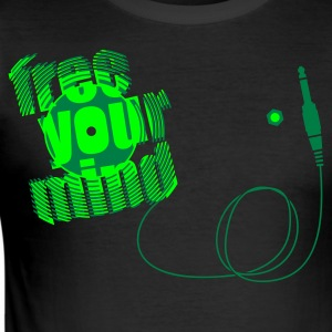 Schwarz FREE YOUR MIND - 7inch xtd - Pt. 2 T-Shirts (Kurzarm) - Männer Slim Fit T-Shirt