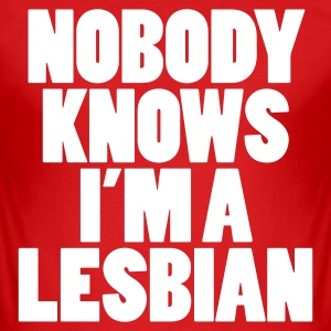 Nobody knows I'm a lesbian T-shirt - Slim Fit T-shirt herr