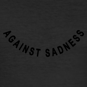 Eigelb against sadness (smile) T-Shirts - Slim Fit T-shirt herr