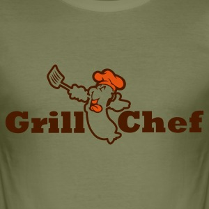 Grillchef - Männer Slim Fit T-Shirt