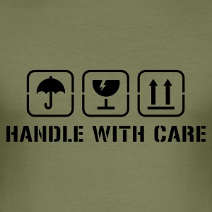 Camel Handle with care T-shirts - slim fit T-shirt