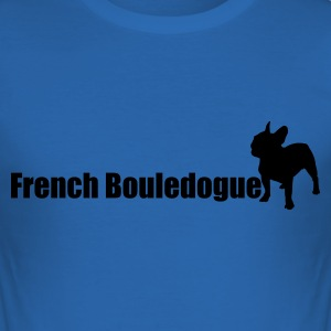 Bleu royal French bouledogue T-shirts - Tee shirt près du corps Homme