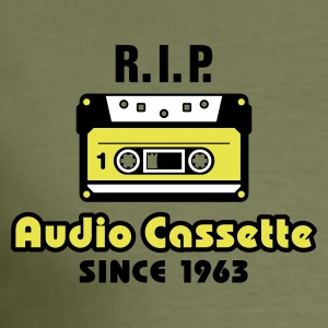 Olive audio cassette T-Shirts (Kurzarm) - Männer Slim Fit T-Shirt