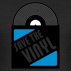 Gelb save the vinyl T-Shirts (Kurzarm) - Männer Slim Fit T-Shirt