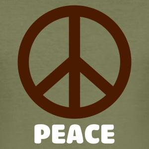 Camel peace sign T-Shirts (Kurzarm) - Männer Slim Fit T-Shirt