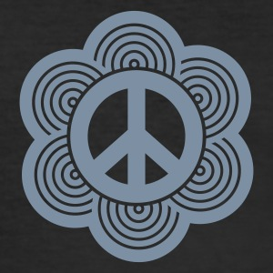 Schwarz peace sign T-Shirts (Kurzarm) - Männer Slim Fit T-Shirt